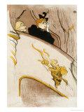"""Le Loge Au Mascaron Dore (Programme For """"Le Missionaire"""") Posters by Henri de Toulouse-Lautrec"""
