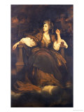 "Mrs. Siddons as ""The Tragic Muse"" Reproduction procédé giclée par Joshua Reynolds"