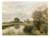A View of Arleux from the Marshes of Palluel Giclee Print by Jean-Baptiste-Camille Corot