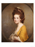 Portrait of Dorothy Hodges (1752-1800), Half-Length, in a Yellow Dress Poster by Joseph Wright of Derby