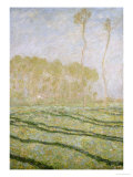 Spring Countryside at Giverny Poster by Claude Monet