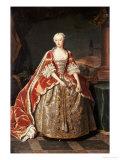 Portrait of Augusta, Princess of Wales (1719-1772) Giclée-Druck von Jean Baptiste Van Loo