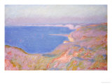 On the Cliffs Near Dieppe, Sunset Reproduction procédé giclée par Claude Monet