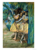 Three Dancers, with a Backdrop of Trees and Rocks Prints by Edgar Degas