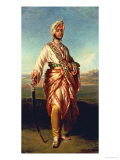 Portrait of the Maharajah Duleep Singh of Elveden, Standing Full Length, Wearing Maharajah's Robes Giclee Print by Janet Hawkins