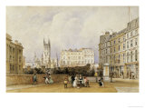 St Saviour's Church, Southwark (Southwark Cathedral) from the Entrance to the Greenwich Railway Giclee Print by George Sidney Shepherd