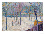 The Orchard in the Snow Gicléetryck av Hippolyte Petitjean