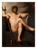 Poseidon Enthroned Giclee Print by Heinrich Friedrich Fuger