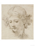 The Head of an Angel, Looking Down to the Left Posters by Pietro da Cortona