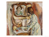 Woman at Her Toilet Posters av Jules Pascin