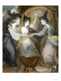 Duchess of Devonshire, Lady Melbourne and Mrs Dawson Damer as the Three Witches from Macbeth Premium Giclee Print by Daniel Gardner