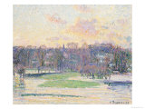 Flooded Sunset Posters by Camille Pissarro