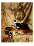 Work Rest and Play 1896 Giclée-Druck von Henriette Ronner-Knip