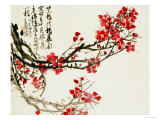 Plum Blossoms Print by Wu Changshuo