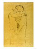 Auf Postament Kauernder Halbakt Lámina giclée por Gustav Klimt