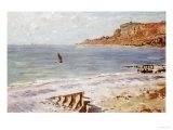 Claude Monet - Seascape Sainte-Adresse - Giclee Baskı