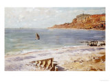 Seascape Sainte-Adresse Art by Claude Monet