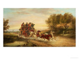 The Oxford to London Mail Coach Print by John Charles Maggs