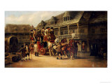 Boarding the Coach to London Giclee Print by John Charles Maggs