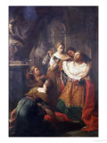 Solomon Worshiping False Gods Giclee Print by Pompeo Batoni