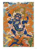 A Tibetan Thang.ka Depicting the Four-Armed and Four-Headed Caturbhujamahakala, circa 1900 Posters