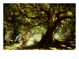 The Big Oak, Raheen, Co. Galway Giclee Print by George Russell