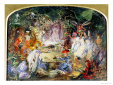 The Original Sketch for the Fairy's Banquet Premium Giclee Print by John Austen Fitzgerald