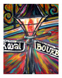 New Orleans Bourbon Street Night Light Giclee Print by Angel Turner Dyke