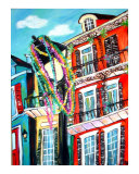 Beads on Bourbon Giclee Print by Angel Turner Dyke