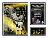Hines Ward - Super Bowl MVP Matted Print