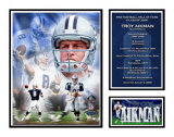 Troy Aikman - NFL Hall Of Fame Matted Print