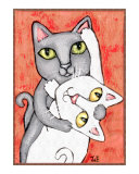 Cat Tango Giclee Print by Jamie Wogan Edwards