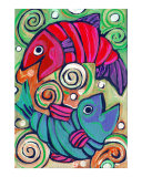 Red Fish Blue Fish Giclee Print by Nicole Engblom