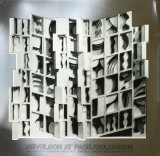 At Pace Columbus, Silver Poster by Louise Nevelson