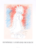 Homage a Fernand Mourlot Collectable Print by Jean Cocteau
