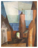 Gruetzturm in Treptow Collectable Print by Lyonel Feininger