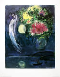 Liebespaar mit Blumen 1949 Collectable Print by Marc Chagall