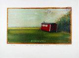 Roter Wagen Serigraph by Peter-Torsten Schulz