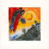 Paar Am Gelben Himmel, 1949 Prints by Marc Chagall