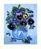 Blaues Blumenstilleben, 2000 Limited Edition by Brigitte P. Hoff