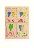 Wir Sind Uns Gruen Poster by Peter-Torsten Schulz