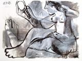 Akt mit Spiegel, 1967 Print by Pablo Picasso