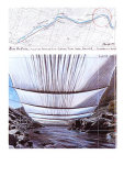Over the River II: Underneath Poster by  Christo