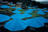 The Blue Umbrellas, c.1984 Collectable Print by Christo 