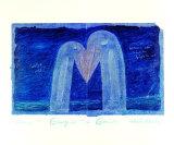 Storchenliebeblau Art by Peter-Torsten Schulz
