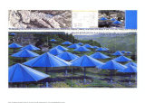 The Blue Umbrellas I Prints by  Christo