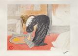 Elles, femme au tub Collectable Print by Henri de Toulouse-Lautrec