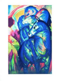Der Turm der Blauen Pferde Collectable Print by Franz Marc