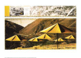 The Yellow Umbrellas I Collectable Print by Christo