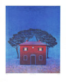 Haus in Arezzo - Blau Edition limit&#233;e par Folkert Rasch